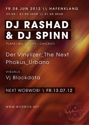WobWob! presents: DJ Rashad + DJ Spinn